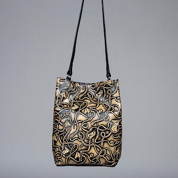 Horse-themed women`s shoulder bag, Essi
