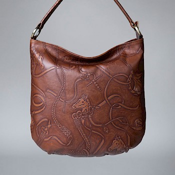 Horse-themed women`s shoulder bag, Emmi