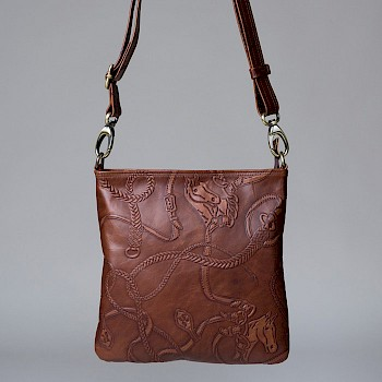 Horse-themed women`s shoulder bag, Stina