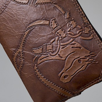 Horse-themed women`s wristbag/wallet, Tuula