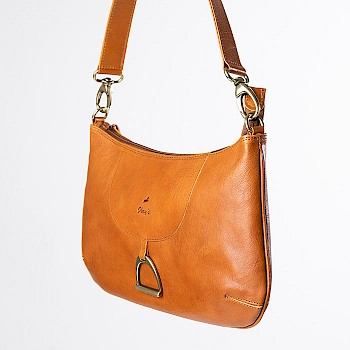 Horse-themed women`s shoulder bag, Carla